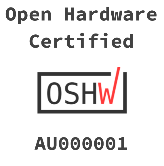 Open Source Hardware Certification AU0000001